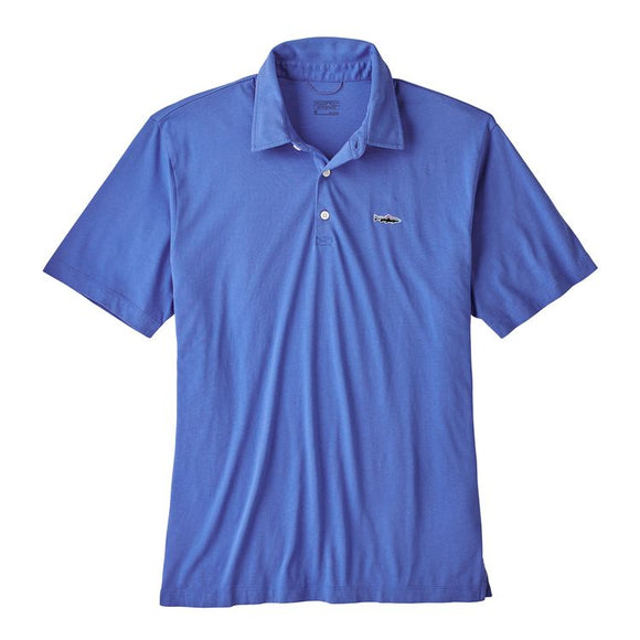 Patagonia Men's Polo - Trout Fitz Roy - Imperial Blue