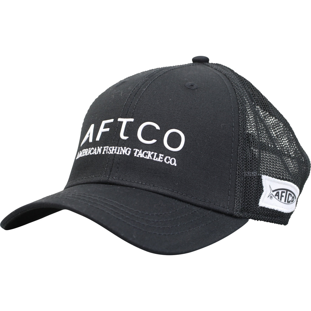 AFTCO Echo Trucker Hat Fitted Black - Trailside Outfitter