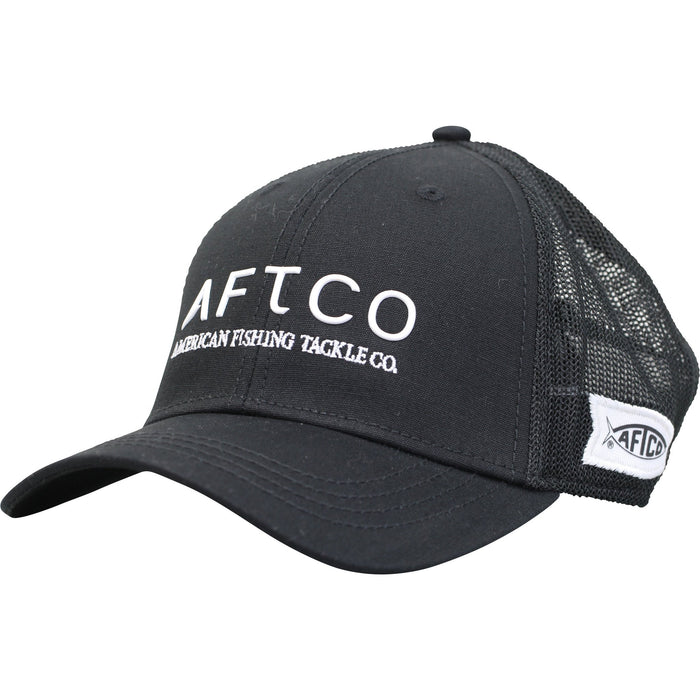 AFTCO Echo Trucker Hat Fitted Black