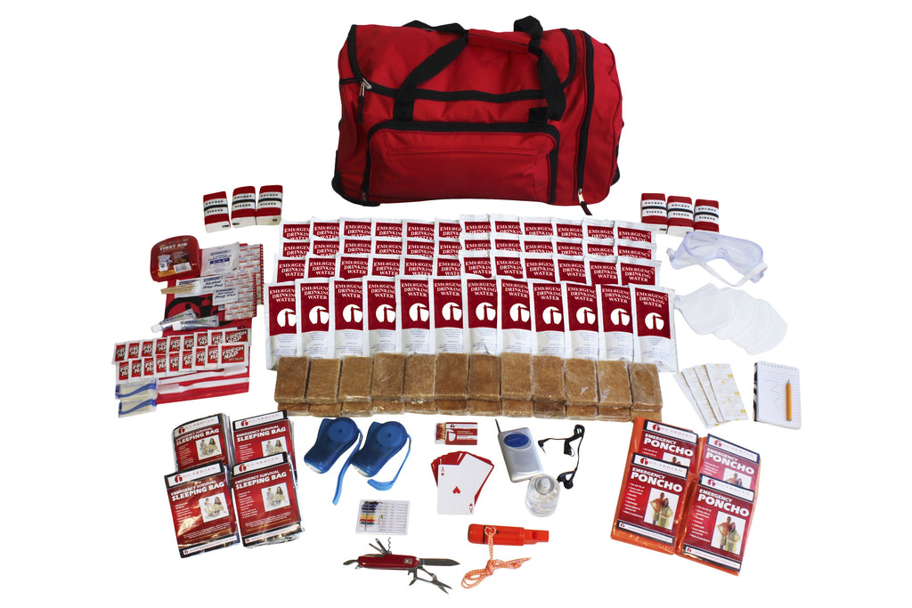 4 Person Deluxe Survival Kit (72+ Hours) Wheeled Bag