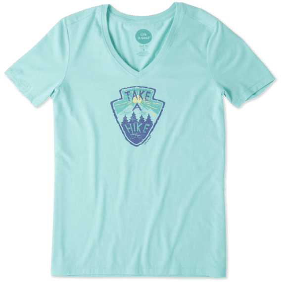 Life Is Good Women's Take a Hike Cool Vee - Cool Aqua