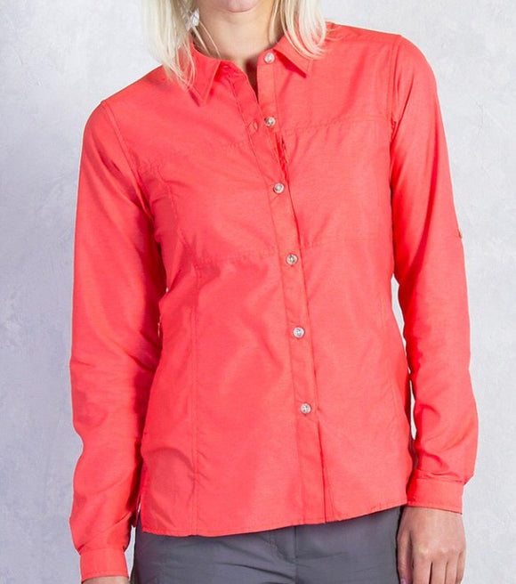 Exofficio Women's Lightscape LS Shirt - Hot Coral