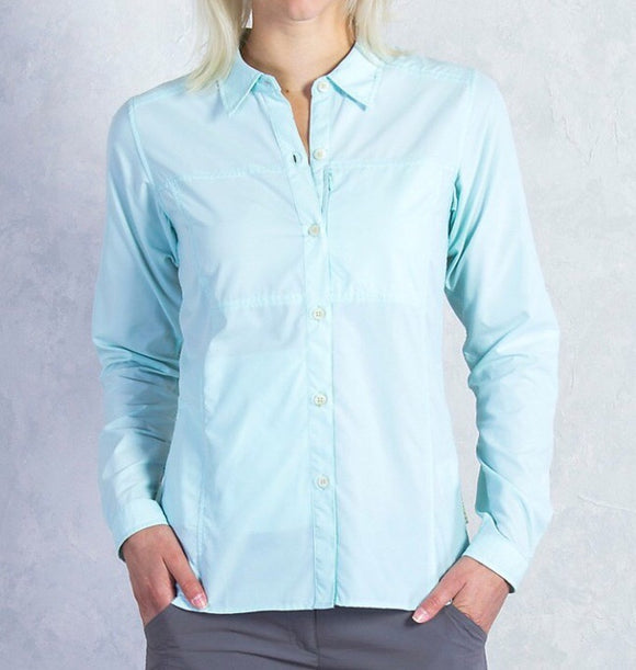 Exofficio Women's Lightscape LS Shirt - Tourmaline