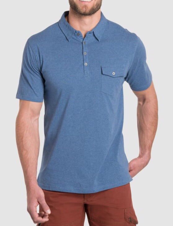 Kuhl Men's Short Sleeve Stir Polo - Lake Blue