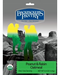 Backpacker's Pantry Hot Peanut & Raisin Oatmeal Cereal - Trailside Outfitter