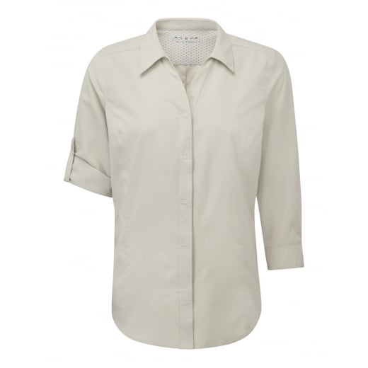 Royal Robbins Women's Expedition 3/4 Sleeve Shirt - Soapstone