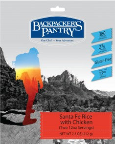 Backpacker's Pantry Santa Fe Style Rice & Beans with Chicken - Trailside Outfitter