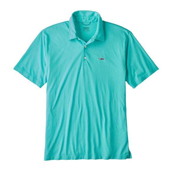 Patagonia Men's Polo - Trout Fitz Roy Strait Blue