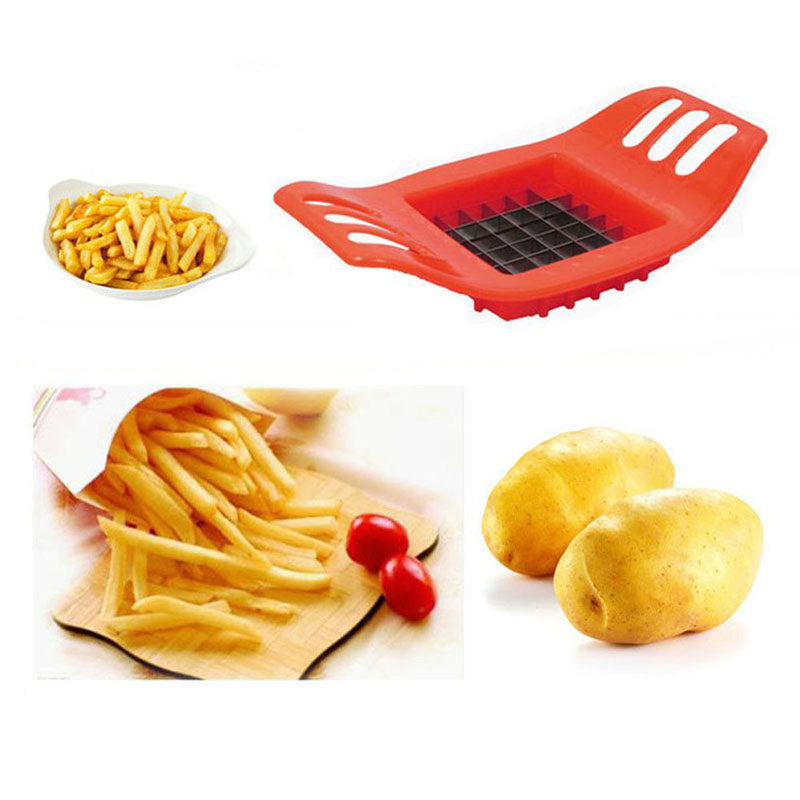 Potato Cutter Vegetable Slicer Chopper Chips Making Device Fries ABS+Stainless Steel Kitchen Cooking Tools