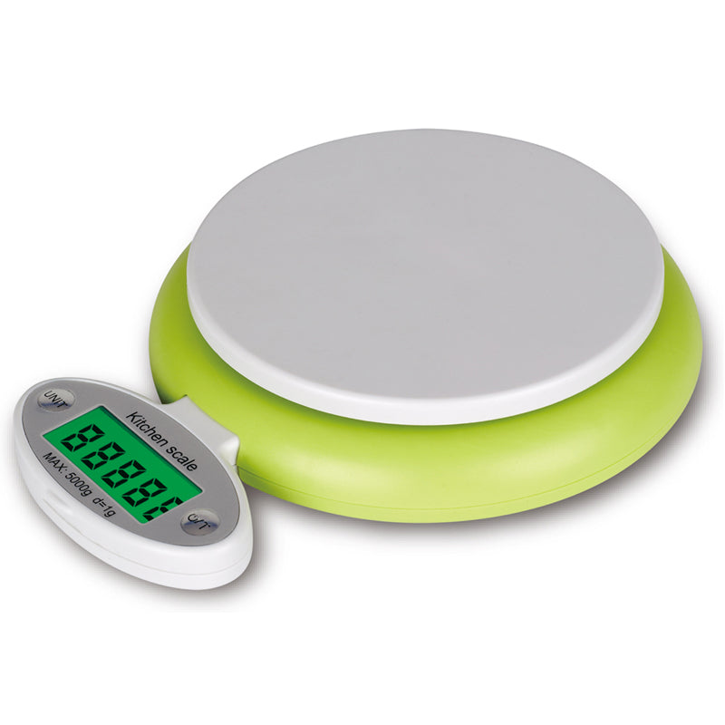 Green 5KG/1g LCD Display Digital Scales Electronic Kitchen Scales Fruit Food Weighting Tool Kitchen Cooking Accessories