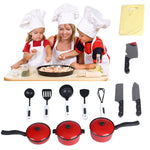12pcs Playhouse Pretend play Toys Small Chef Kitchenware Simulation Kitchen Utensils Toy Kids KItchen toys for children