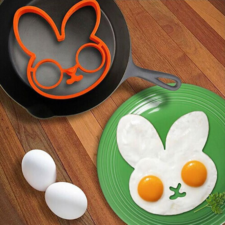 Super Deal Creative Kitchen Tools Silicone Egg Mould Rabbit Shape Egg Mold Cooking Egg Tools Mould kitchen accessories HYM17&06