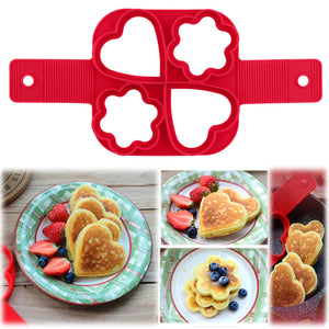 Fantastic Fast & Easy Way To Make Perfect Cooking  Four Holes DIY Pancakes Tool