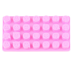 Smiling 28 Face Expressions Cake Decorating Silicone Fondant Chocolate Mold Pastry Cooking Tools Home Use Kitchen Baking Mold