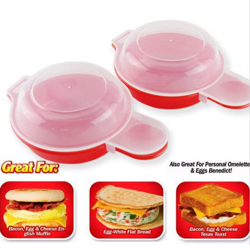 2PCS for Easy Eggwich Cooking Tool Microwave Cheese Hamburg Pancake Omelet Make Eggs Cooker Kitchen Baking Accessories