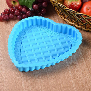 1 Slot Love Heart Shape Silicone Cake Mold Pastry Single Cake Pan DIY Handmade Soap Baking Mould Kitchen Cooking Tools