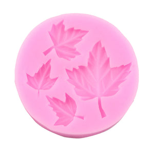 Popular New four leaf leaves cooking tools wedding decoration Silicone Mould baking Fondant Sugar Craft DIY Cake candy