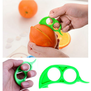 4Pcs Orange Citrus Fruit Peelers Lemon Tangerine Kitchen Gadget Slicer Cutter