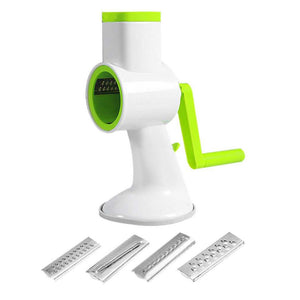 New 4 in 1 Vegetables Cutter Multifunctional Manual Cutting Artifact Hand Push Rotary Shredder Device Kitchen Gadget Accessories