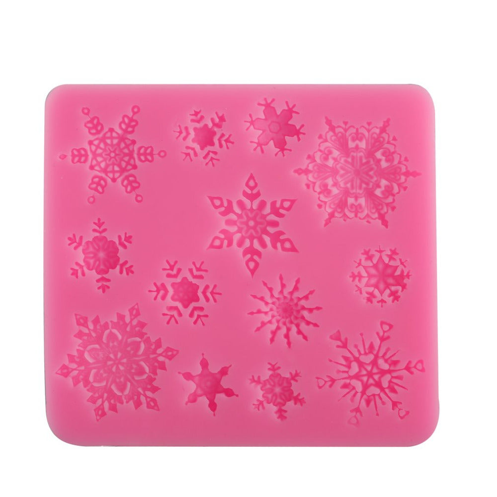 3D Christmas Decor Snowflake Lace Chocolate Party DIY Fondant Baking Cooking Cake Decorating Tools Silicone Mold 9.5*8.7*1cm