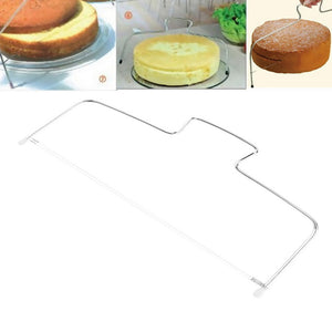 PREUP 33*14cm Double Line Adjustable Cake Cutter Slicer Stainless Steel Metal Cake Slicer Device Bakeware Kitchen Cooking Tool