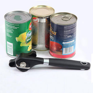 Can Opener Stainless Steel Professional Manual Can Opener Side Cut Can Opener Kitchen Tools & Gadgets Easy And Convenient Black