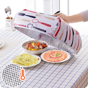 Hot Aluminum Foil Food Cover Foldable Food Covers Keep Warm Dishes Insulation Utilidades Kitchen Gadgets Accessories
