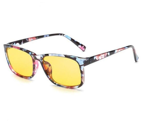 Anti-Blue Light Glasses - Yellow Tint - Wide Eye Frame