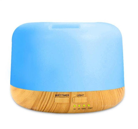 Aromatherapy Diffuser - 7 Colour LED Light - Wood Grain FInish