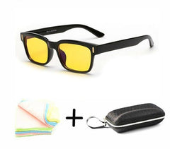 Retro Anti-Blue Light Glasses - Yellow Tint