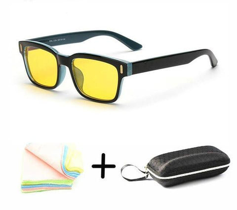 Retro Anti-Blue Light Glasses - Yellow Tint - Lion Heart Living
