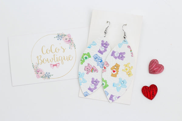 Care Bears Faux Leather Petal Earrings