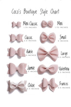 Pink Highlighter- Neon Patent Leather hair bow- Various Sizes