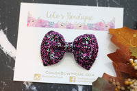 Punk Rock- iridescent Chunky Glitter Bow- - Various Sizes