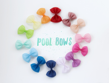 Hot Pink- Jelly/Pool bows- Various Sizes
