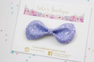 Periwinkle Shimmer- Iridescent Glitter bow- Various Sizes- Holiday bows
