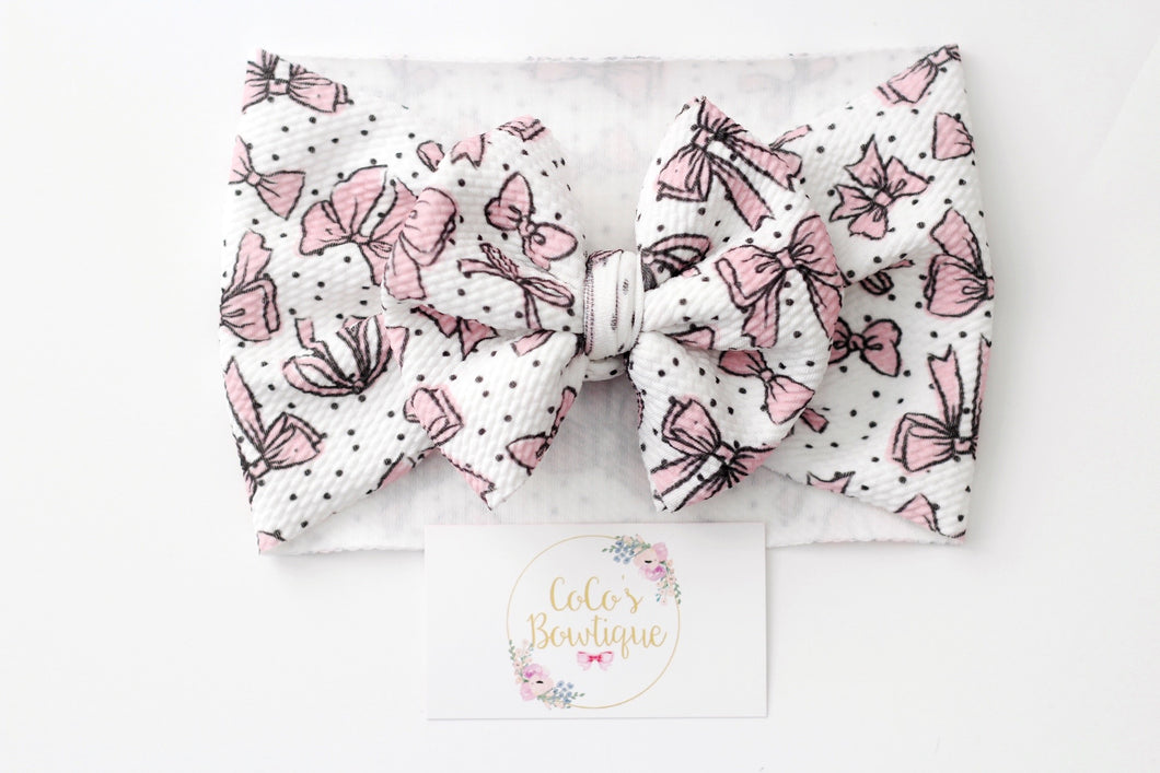 Bow Crazy- Stretchy Liverpool/Bullet Bow Wrap- Choose Size