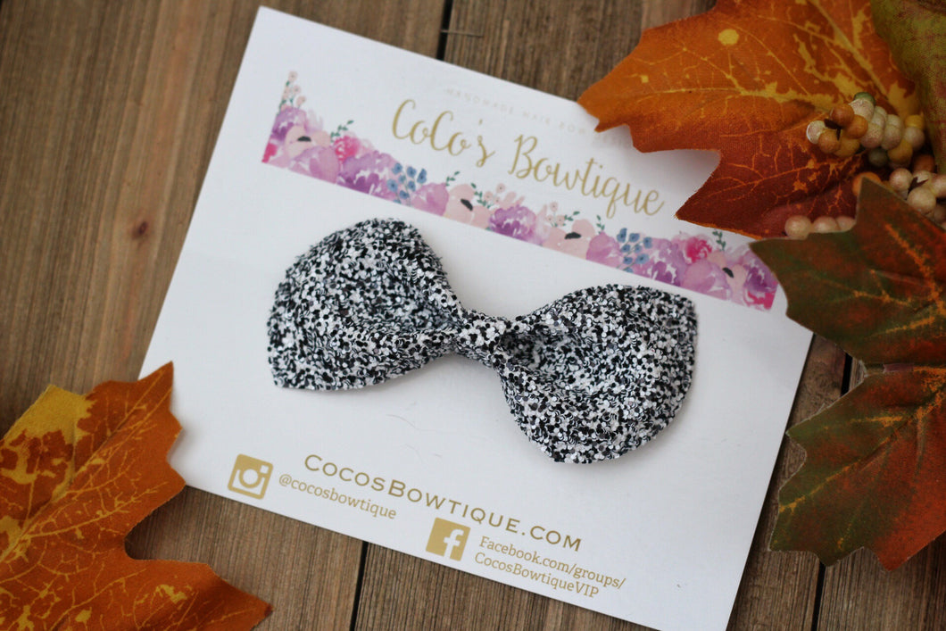 Static- Chunky Glitter Bow- Fall Hair Bows-Various Sizes