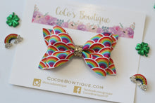 Infinite Rainbow- Faux Leather Bow- Various Sizes