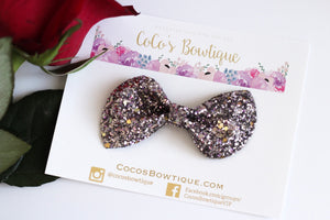 Mirage Glitter- Chunky Glitter Bow- Cinnamon- Various Sizes