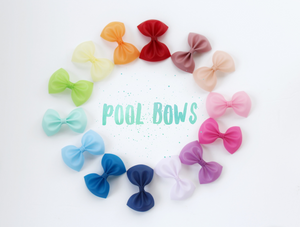 Mauve- Jelly/Pool bows- Various Sizes