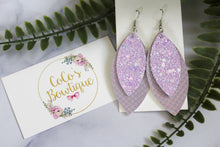 Lavender - Layered Petals-Mermaid Collection- Handmade Earrings- Nickel Free