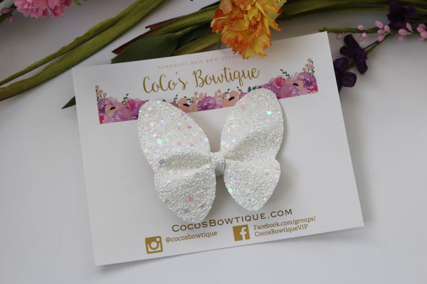 Heavenly- Chunky glitter Butterfly bow