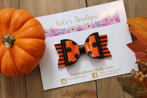Halloween Cutie- Fall-Inspired Double Bow- 3 sizes