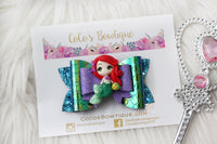 Princess Ariel- Disney Princess-Inspired Clay Center Bow- one size