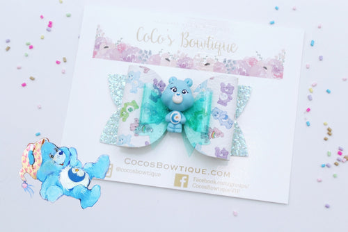 Bedtime Bear- Care Bears-Inspired Clay Center Bow- Limited Edition