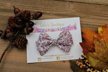Falling Leaves- Chunky Glitter Bella Bow- 2 sizes