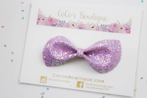 Enchanted Shimmer- Iridescent Glitter bow- Various Sizes- Holiday bows