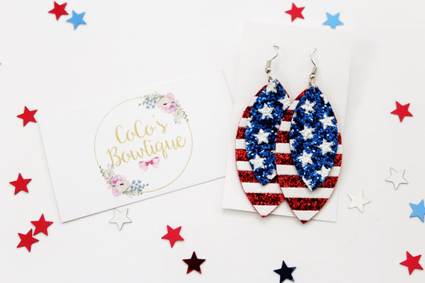Star Spangled- Layered Petals- Handmade Earrings- Nickel Free