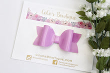 Lavender- Patent Leather hair bow- Various Sizes